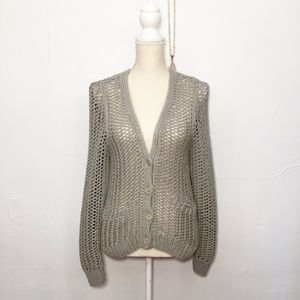 3.1 Phillip Lim Gray Cotton Blend Cardigan